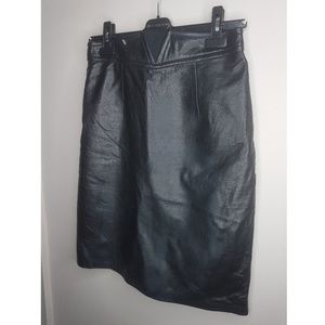 Vintage Leather Mini Skirt - Sz 6